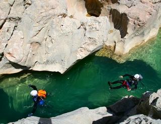 Canyoning en Sierra de Guara en Aragon dans les Pyrénées