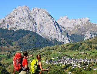 Cirque de Lescun en vallée d'Aspe en Béarn Pyrénées