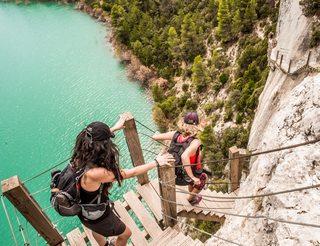 Gorges de Mont-Rebei en Aragon dans les Pyrénées