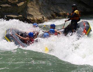 Rafting à Murillo de Gállego en Aragon dans les Pyrénées